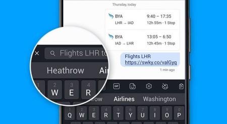 SwiftKey para Android introduce una nueva función para compartir más rápido cualquier contenido desde la web