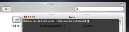 cdto: Abre la ventana que tienes activa en el Terminal