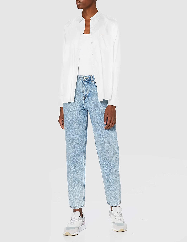 Lee One Pocket Shirt Camisa, Color Blanco, 1XL para Mujer
