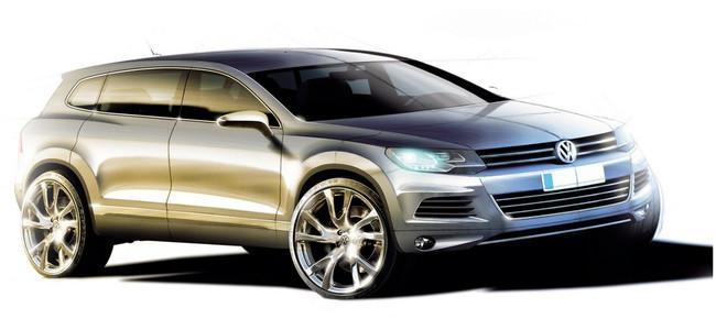Boceto Volkswagen Touareg