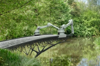 Este robot va a imprimir en 3D un puente entero de acero