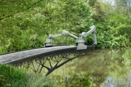 En el futuro las estructuras serán construidas por robots que a la vez, las imprimen en 3D