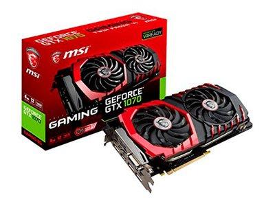 Potencia para gamers con la MSI GeForce GTX 1070 GAMING 8G por 487,92 euros en Amazon