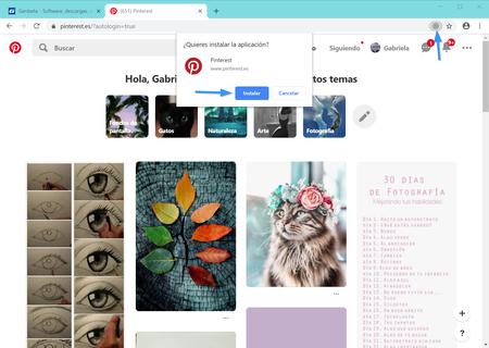 Instalar Pinterest Pwa