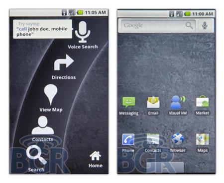 Android 2.0, primeras imágenes