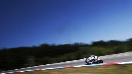 Alex Lowes en Brno antes de la caída