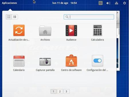 Lanzador de aplicaciones Slingshot de Elementary OS