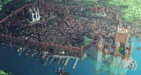 Así luce Desembarco del Rey en 'Minecraft'