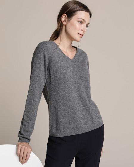 Jersey de mujer 100% Cashmere con escote en pico
