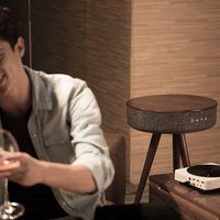¿Es un altavoz o una mesa? Es Mellow un dispositivo mixto con el que decorar y sonorizar tu hogar