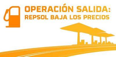 Operación Salida: Repsol baja los precios de la gasolina