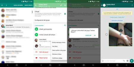 Creando un grupo de WhatsApp de una única persona