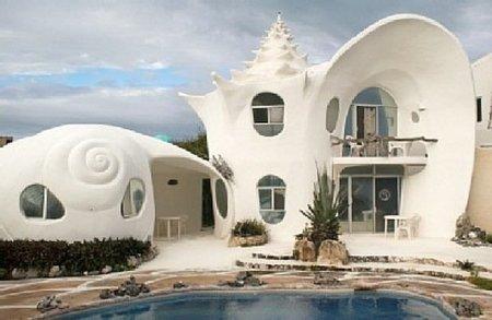Casas poco convencionales: vivir en una caracola gigante