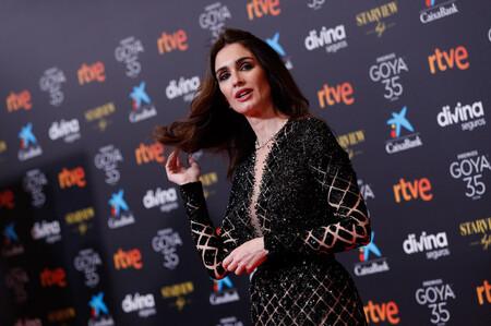 Paz Vega brilla en la alfombra roja de los Premios Goya 2021 con un precioso vestido de Alta Costura de Georges Hobeika