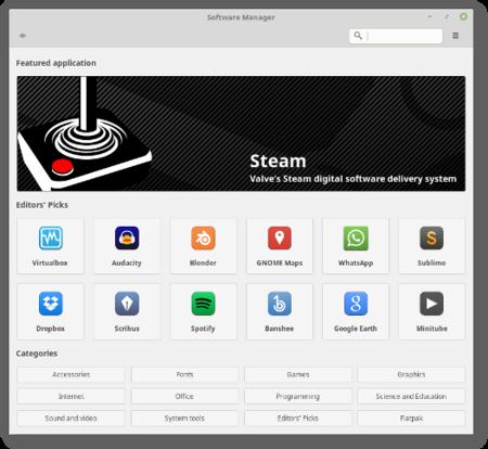 Centro De Sfotware Linux Mint