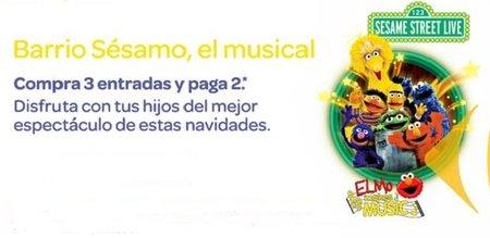 3x2 para el musical de Barrio Sésamo por gentileza del Club Carrefour