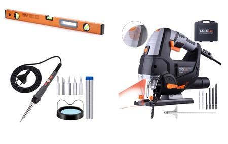 3 ofertas flash de bricolaje en Amazon válidas hasta medianoche: Niveles, sierras de calar y kits de soldador