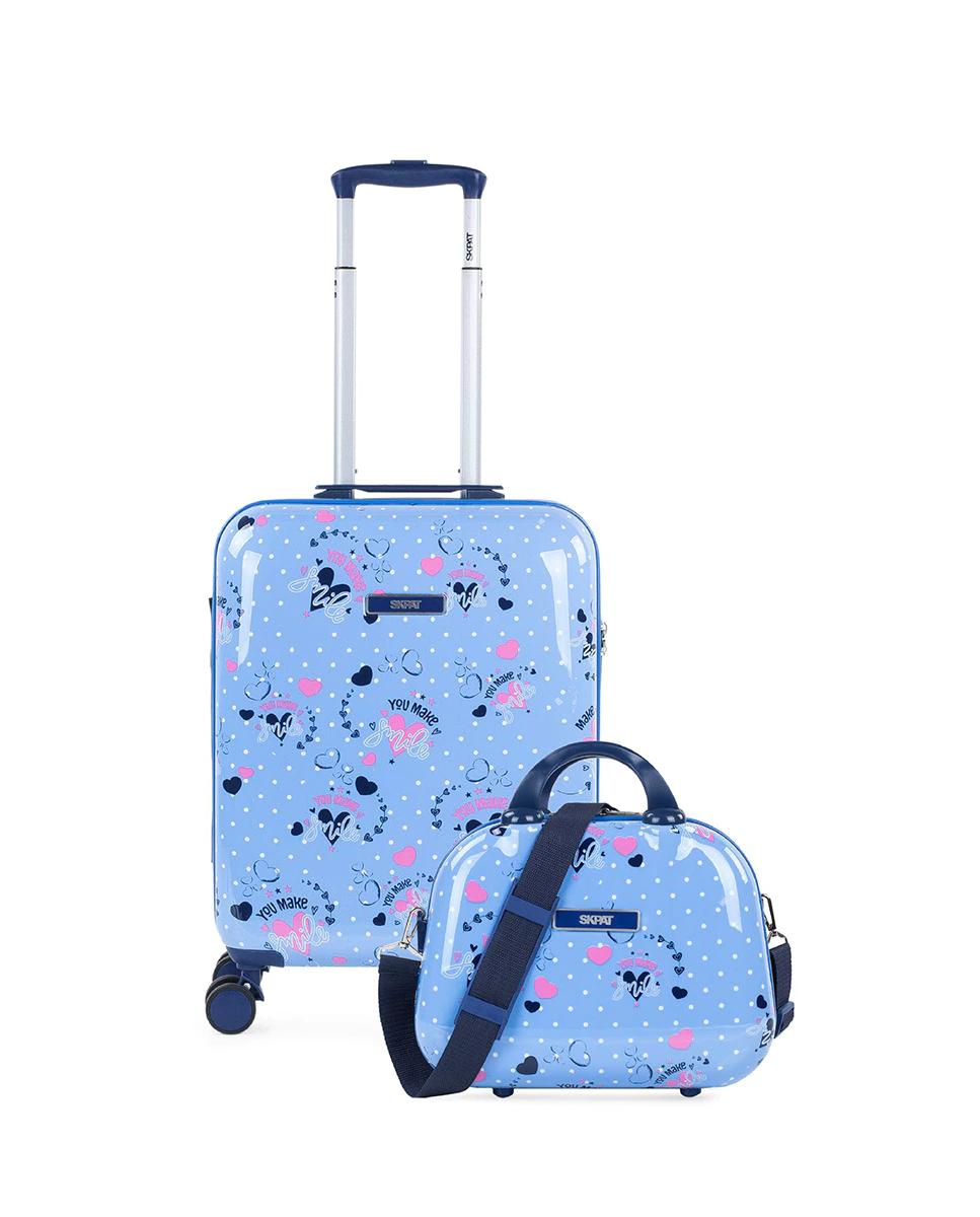 Juego de maleta de cabina infantil más neceser Smile rígido con capacidad de 50 L