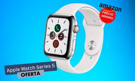 A precio mínimo: el Apple Watch Series 5 en acero y 44mm GPS+Celular ahora en Amazon baja hasta los 529 euros