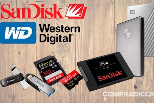 Discos duros, pendrives y tarjetas de memoria: 12 ofertas en almacenamiento SanDisk y Western Digital tras el Prime Day