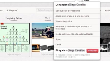 Pinterest ya permite bloquear usuarios y añade un control granular a las notificaciones por correo