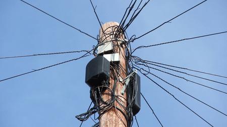 Velocidad internet, cables teléfono