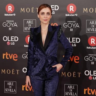 Leticia Dolera vuelve a decantarse por un esmoquin, se convierte en rutina en los Goya 2018