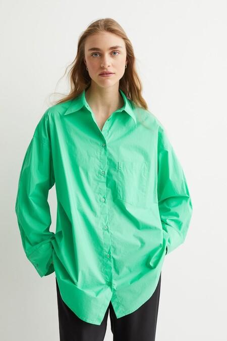 Camisa Oversize De Algodon