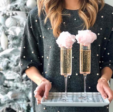 Cotton Candy Champagne Coctel Para La Navidad