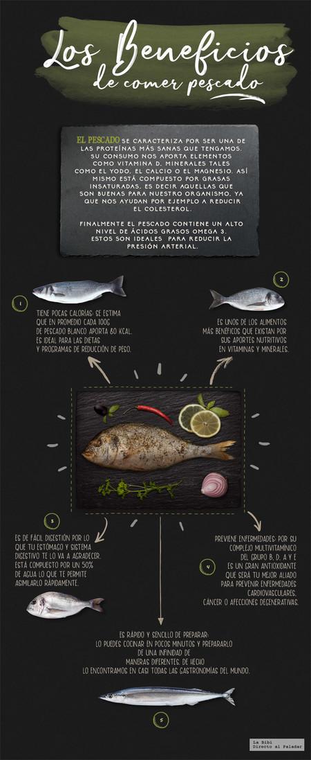 Los beneficios de comer pescado. Infografia