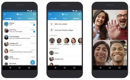 Skype crea una versión optimizada para móviles con Android 4.0 - 5.1, y la hemos probado