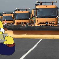 Homer se va a quedar sin trabajo este invierno: Mercedes-Benz ya está probando sus quitanieves autónomos