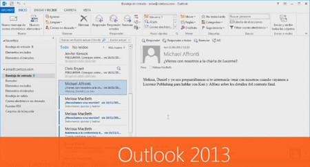 Outlook llegará a Windows RT con la actualización de Windows 8.1