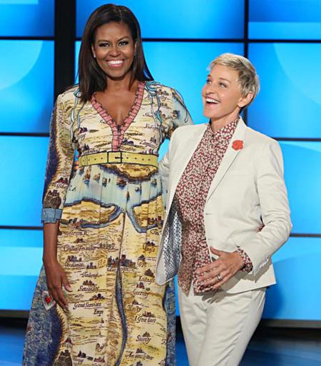 Michelle Obama, el nuevo fichaje del team Gucci, o cómo dejar boquiabierta a Ellen Degeneres