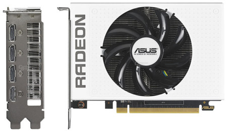 Asus Radeon R9 Nano White Side View