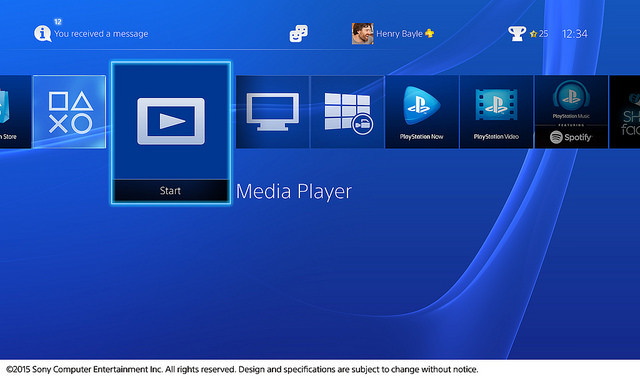 PS4 recibe al fin su reproductor multimedia