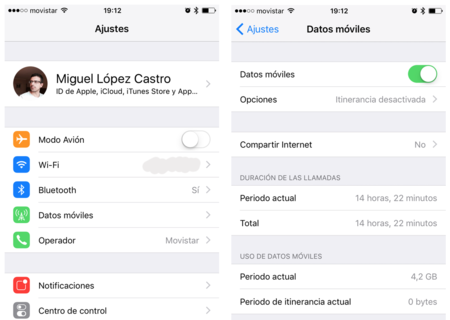 Ajustes Datos Moviles Iphone