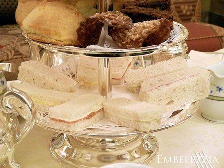 Sandwiches del té del Ritz