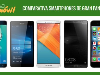 Comparativa precios smartphones de gran pantalla y phablets a plazos con operadores o libres