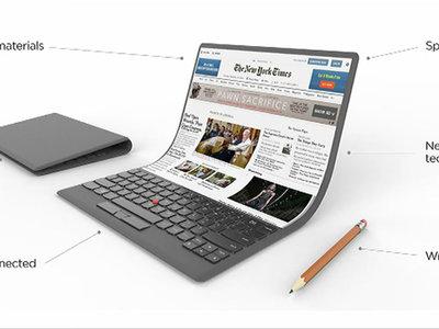 ¿Pantallas que se doblan? Este es el futuro que imaginan en Lenovo para los ordenadores portátiles... y flexibles