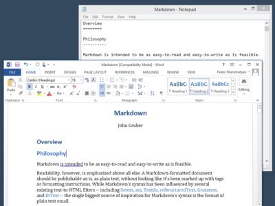 Cómo hacer de Microsoft Word un perfecto editor de texto MarkDown