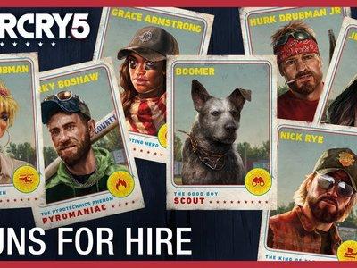 Far Cry 5 presenta en siete vídeos a los mercenarios (y al perrete) que lucharán contra la secta de Joseph Seed