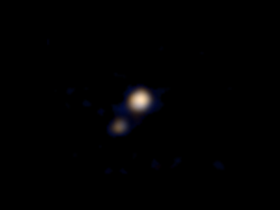 Nos llega primera imagen en color de Plutón y Caronte gracias a New Horizons