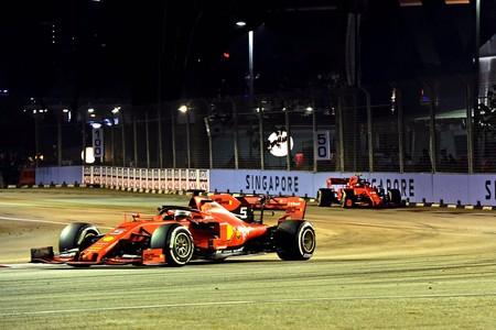 Vettel Leclerc Singapur F1 2019 2