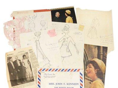Se subastan en Nueva York los bocetos de los vestidos de Jacqueline Kennedy
