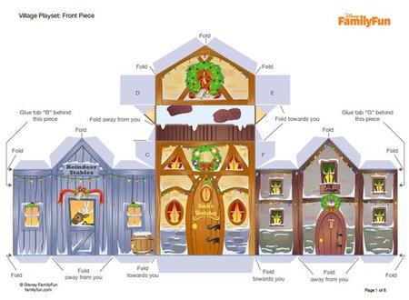 Plantilla de la casa de Papa Noel