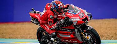 Danilo Petrucci le gana a Álex Márquez una delirante carrera de MotoGP en Le Mans bajo la lluvia