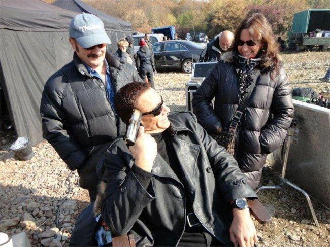 Van Damme en el rodaje de Los Mercenarios 2