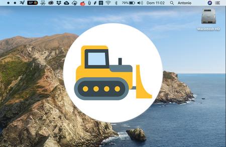 Dozer, una app gratuita y open source para macOS que esconde iconos de la barra de menú
