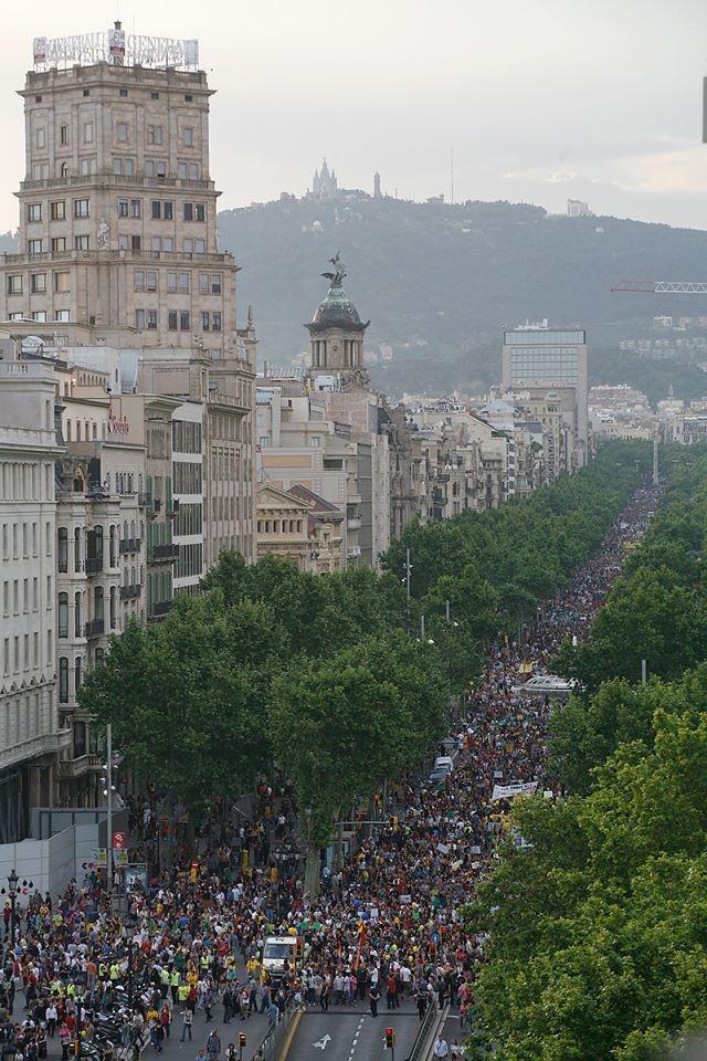 Passeig de Gràcia, Barcelona, 12 de mayo de 2012